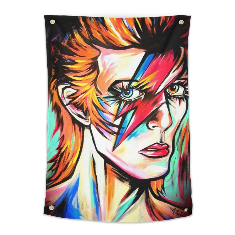 Ziggy Stardust Bowie Home Tapestry by amybelonio's Artist Shop