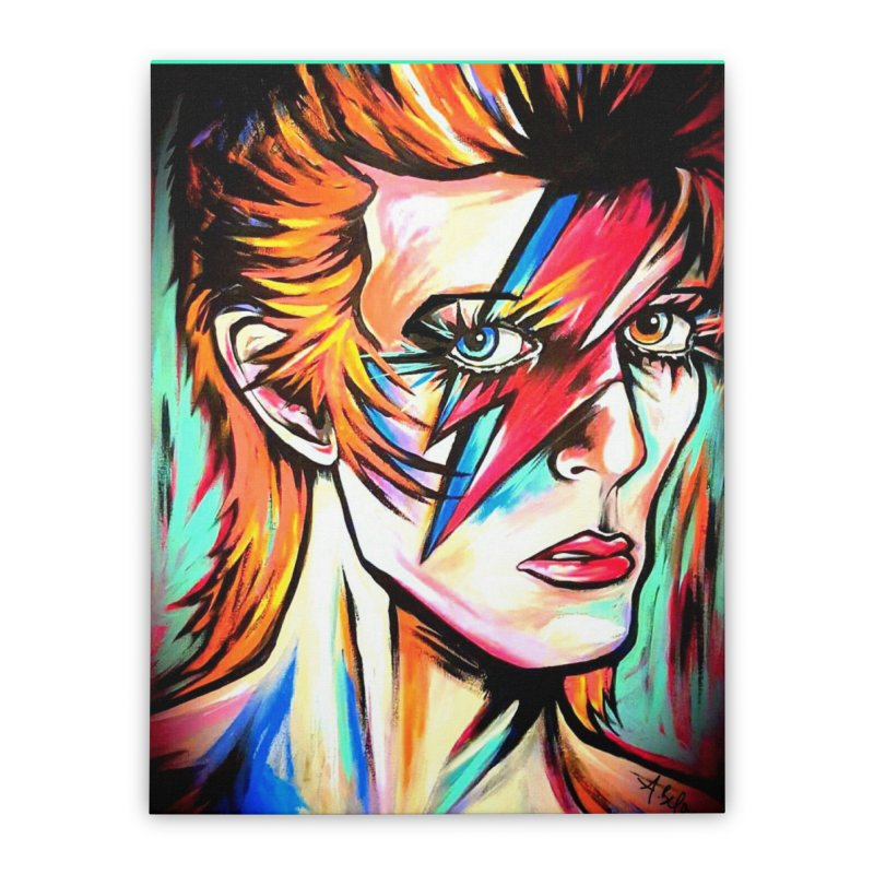 Ziggy Stardust Bowie Home Stretched Canvas by amybelonio's Artist Shop
