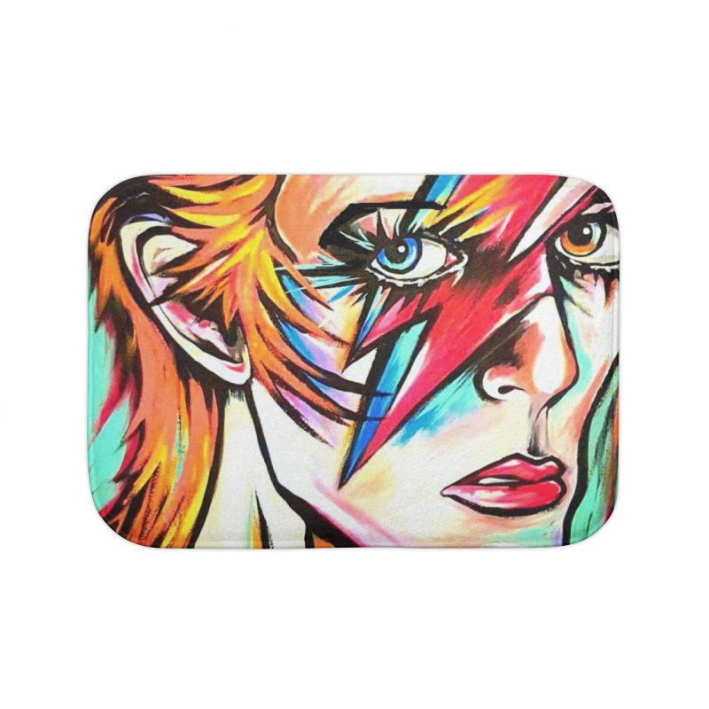 Ziggy Stardust Bowie Home Bath Mat by amybelonio's Artist Shop