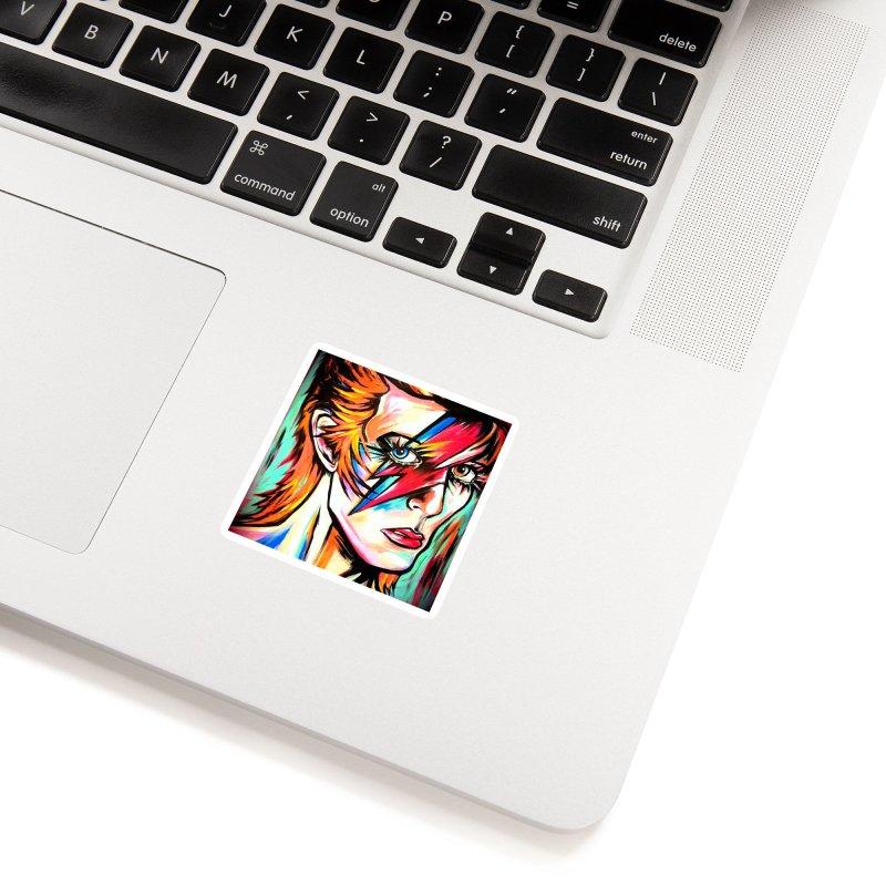 Ziggy Stardust Bowie Accessories Sticker by amybelonio's Artist Shop
