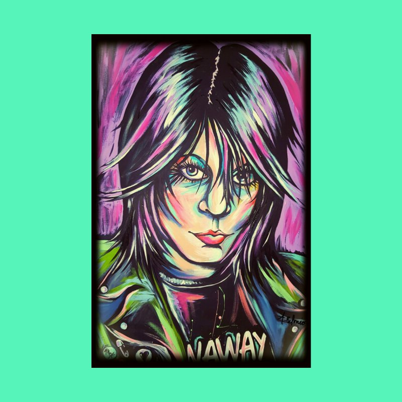 Joan Jett Home Fine Art Print by amybelonio's Artist Shop