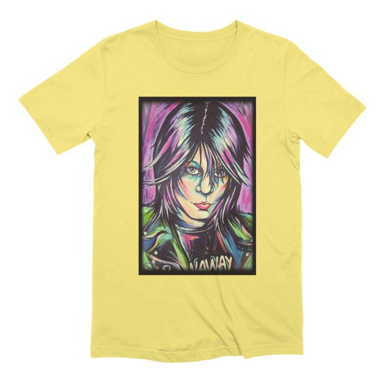 Joan Jett Men's Extra Soft T-Shirt by amybelonio's Artist Shop