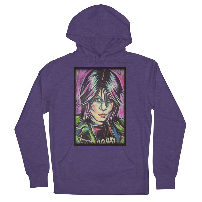 Joan Jett Women's French Terry Pullover Hoody by amybelonio's Artist Shop