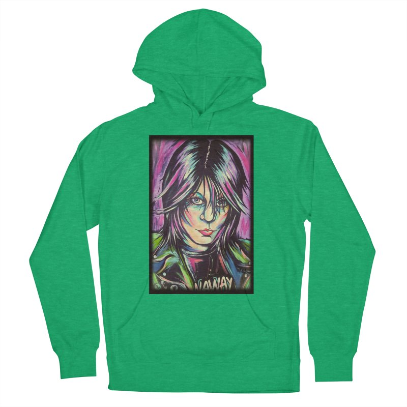 Joan Jett Men's French Terry Pullover Hoody by amybelonio's Artist Shop