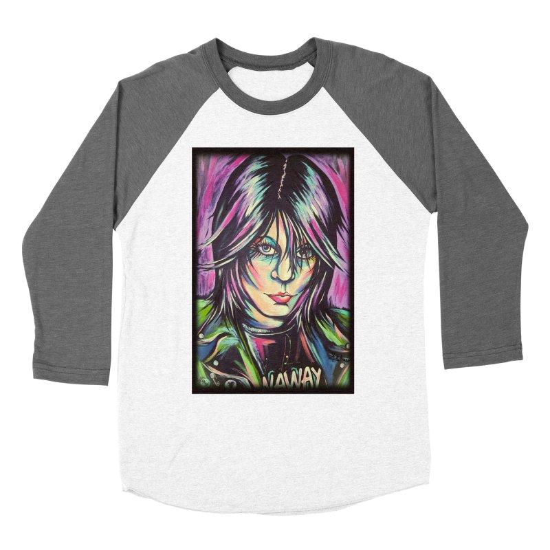 Joan Jett Men's Baseball Triblend Longsleeve T-Shirt by amybelonio's Artist Shop