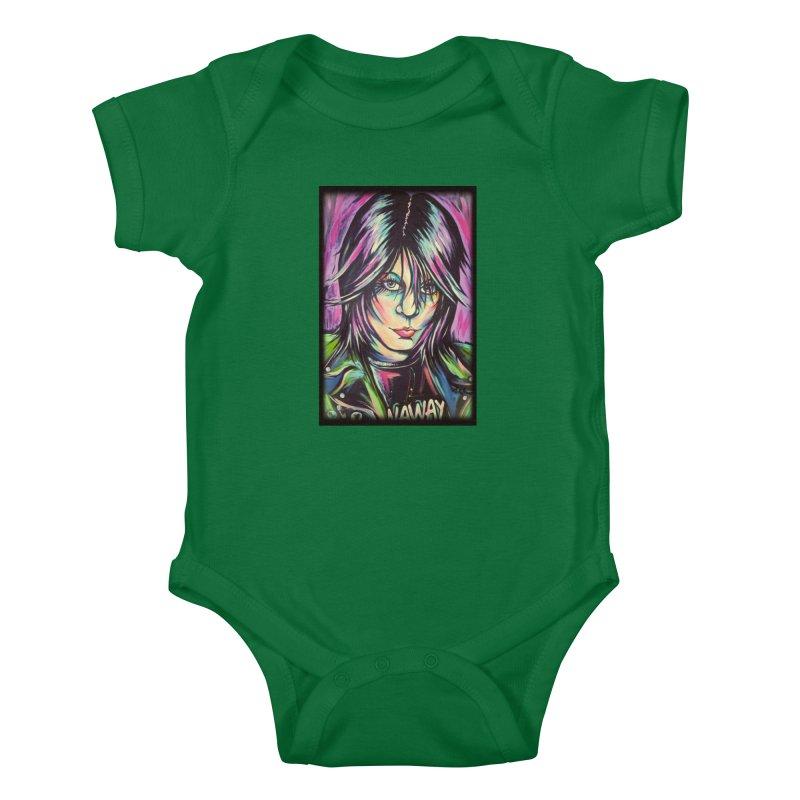 Joan Jett Kids Baby Bodysuit by amybelonio's Artist Shop