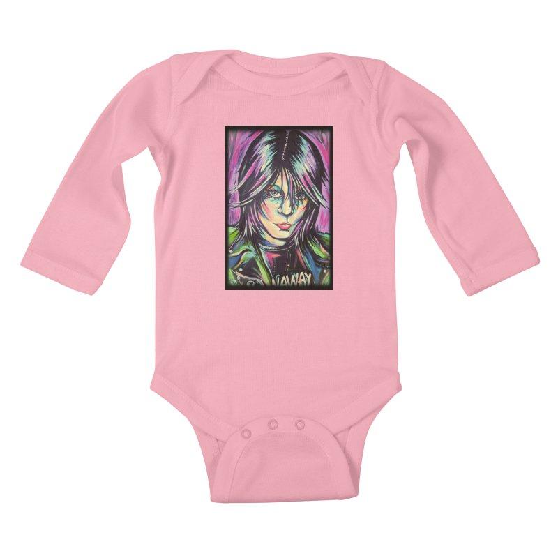 Joan Jett Kids Baby Longsleeve Bodysuit by amybelonio's Artist Shop