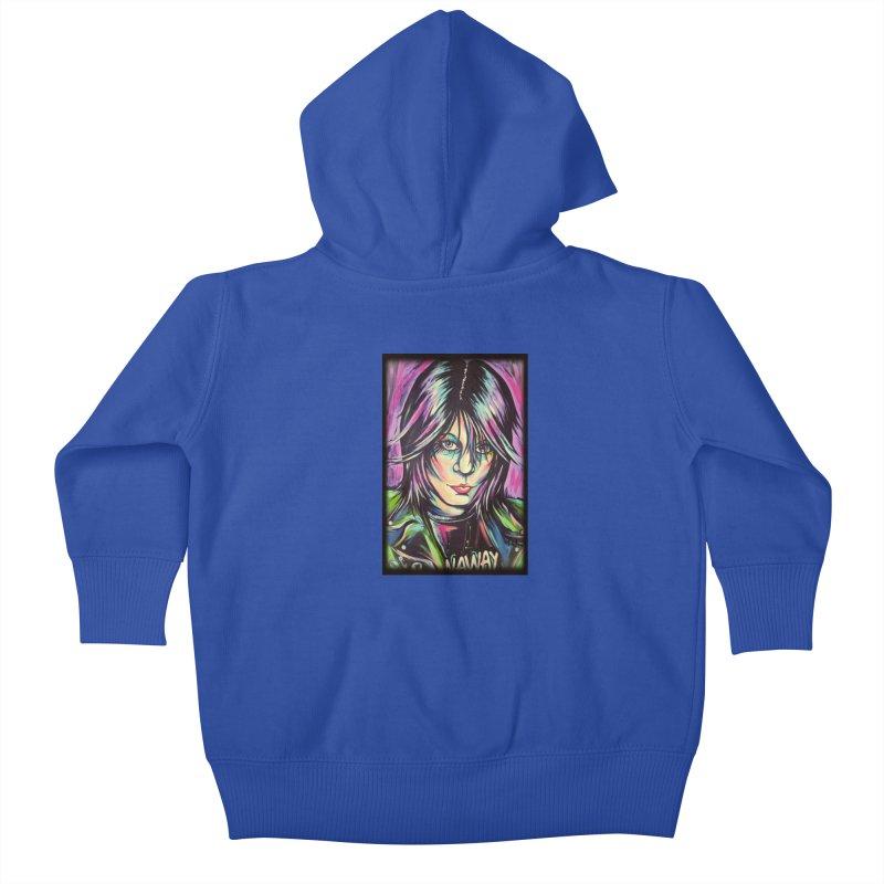 Joan Jett Kids Baby Zip-Up Hoody by amybelonio's Artist Shop