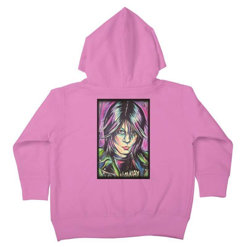 Joan Jett Kids Toddler Zip-Up Hoody by amybelonio's Artist Shop
