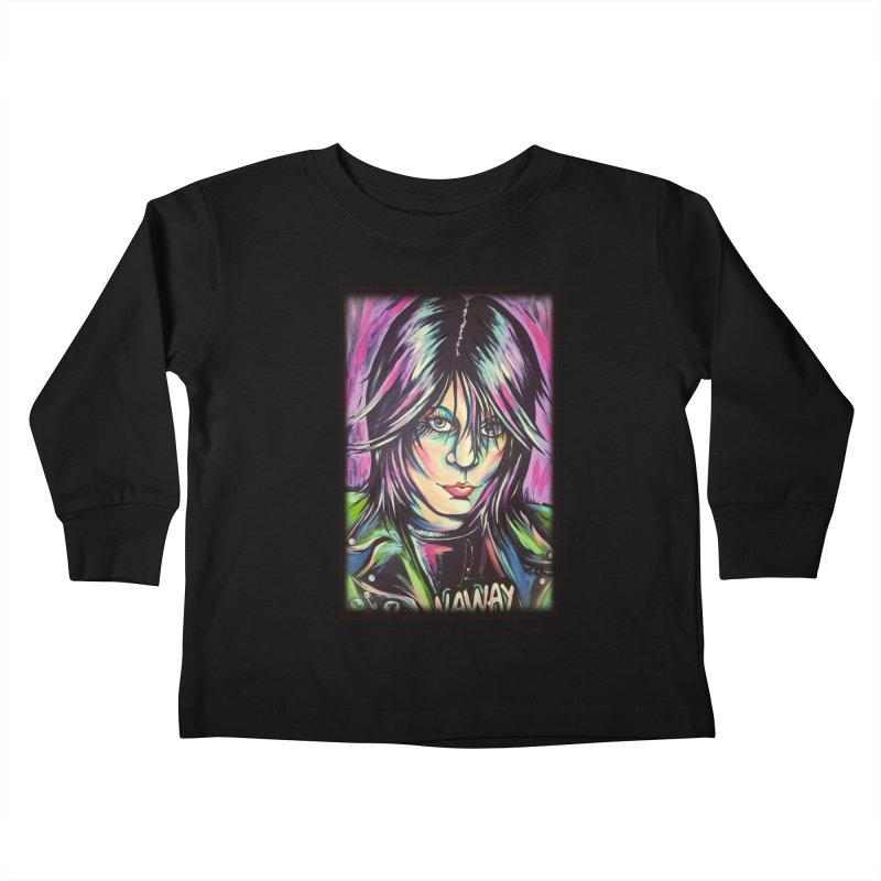Joan Jett Kids Toddler Longsleeve T-Shirt by amybelonio's Artist Shop