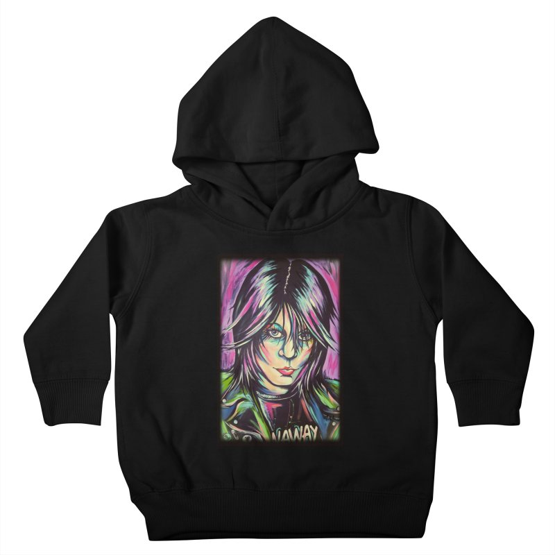 Joan Jett Kids Toddler Pullover Hoody by amybelonio's Artist Shop