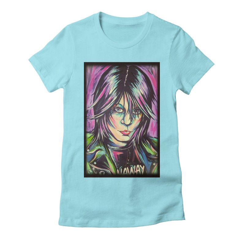 Joan Jett Women's Fitted T-Shirt by amybelonio's Artist Shop