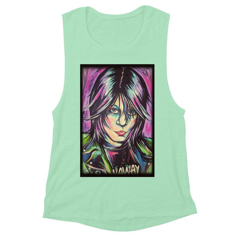 Joan Jett Women's Muscle Tank by amybelonio's Artist Shop