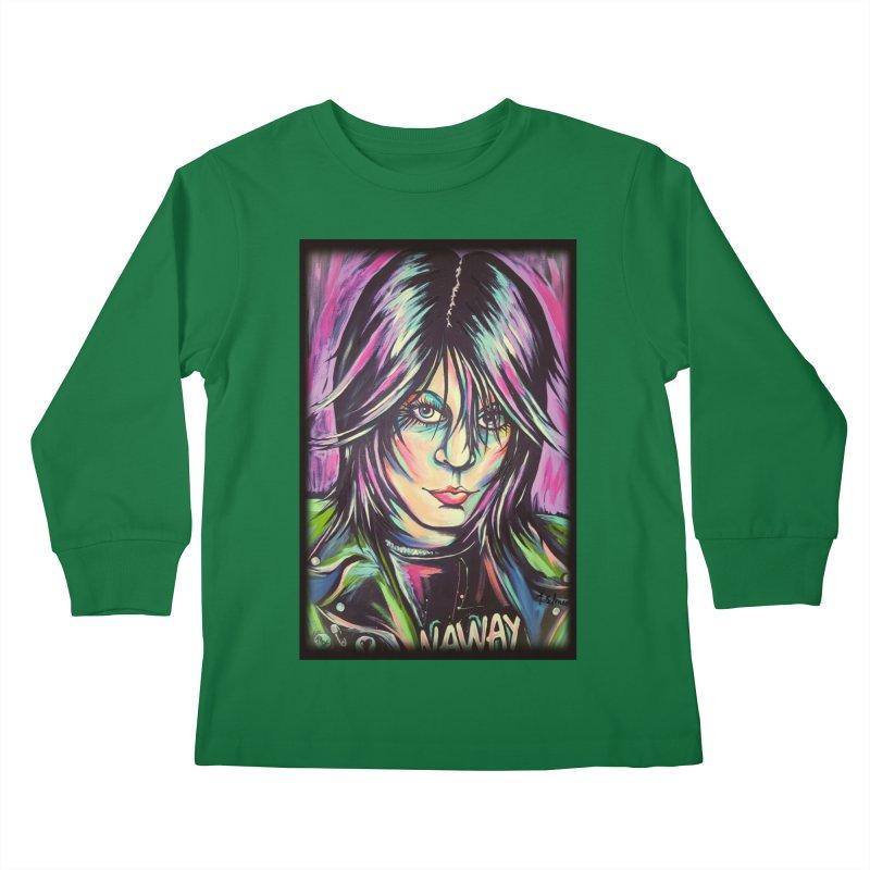 Joan Jett Kids Longsleeve T-Shirt by amybelonio's Artist Shop