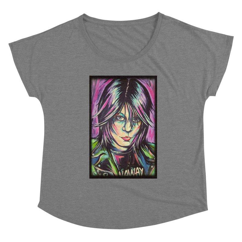 Joan Jett Women's Scoop Neck by amybelonio's Artist Shop