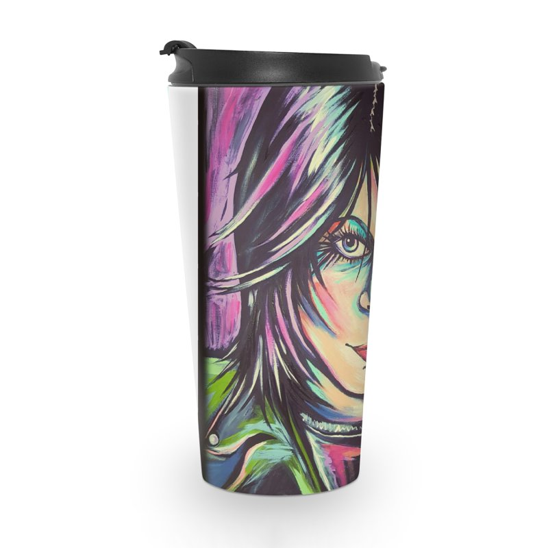 Joan Jett Accessories Travel Mug by amybelonio's Artist Shop