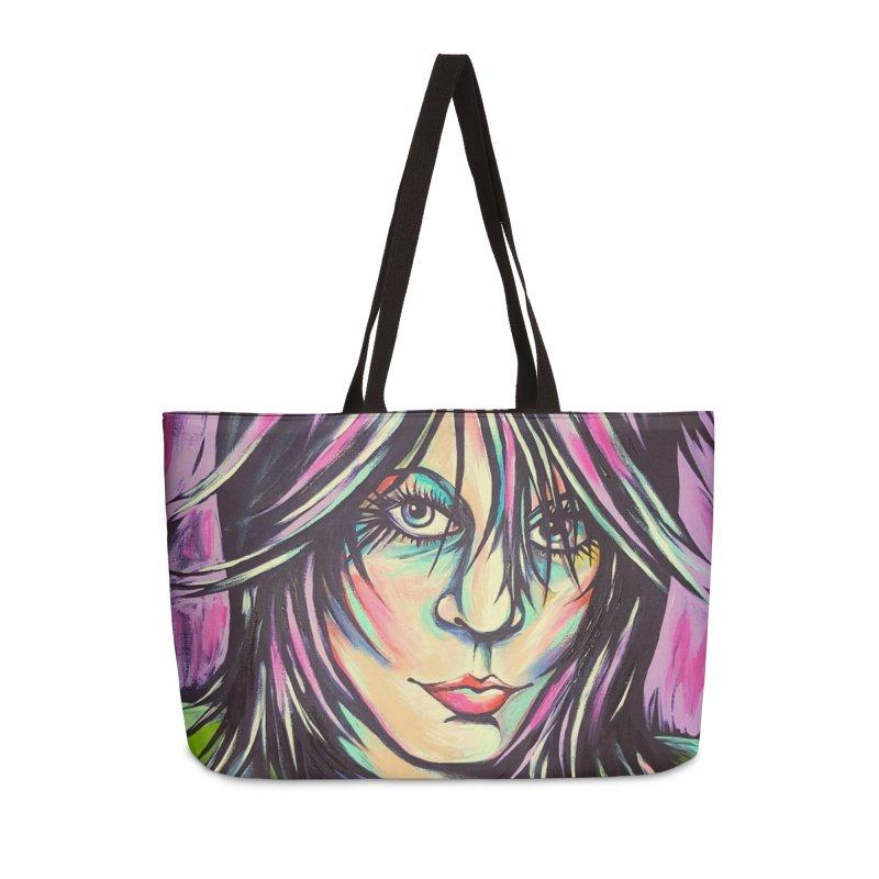 Joan Jett Accessories Weekender Bag Bag by amybelonio's Artist Shop