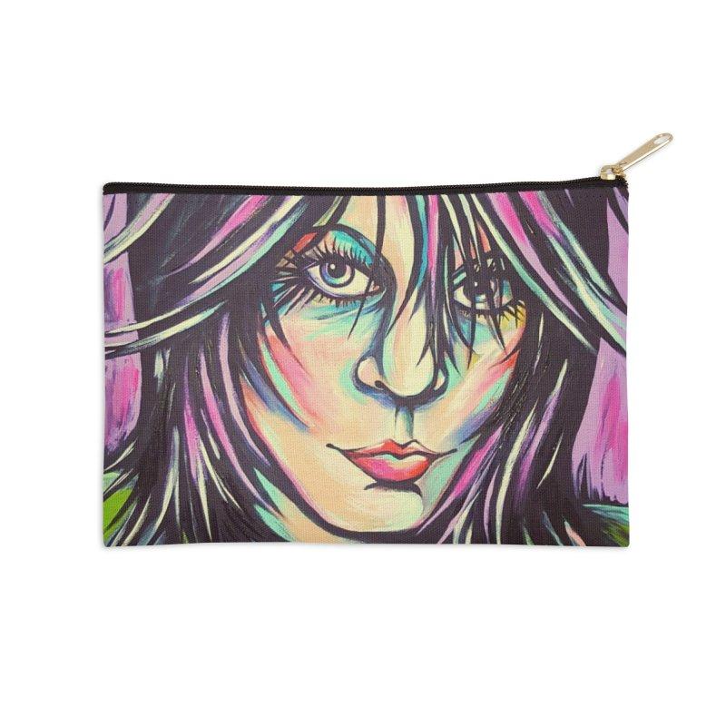 Joan Jett Accessories Zip Pouch by amybelonio's Artist Shop