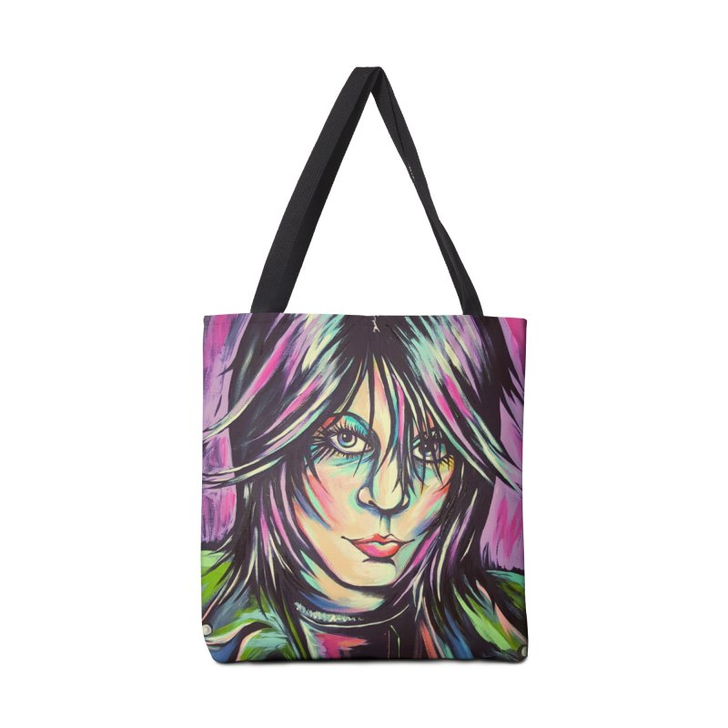 Joan Jett Accessories Tote Bag Bag by amybelonio's Artist Shop