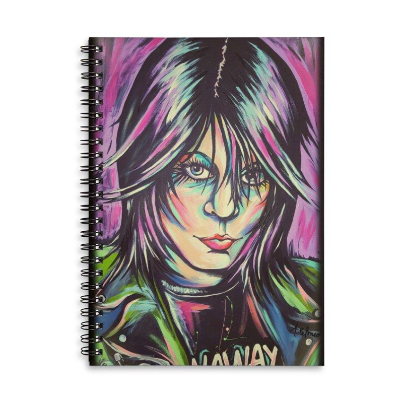 Joan Jett Accessories Lined Spiral Notebook by amybelonio's Artist Shop