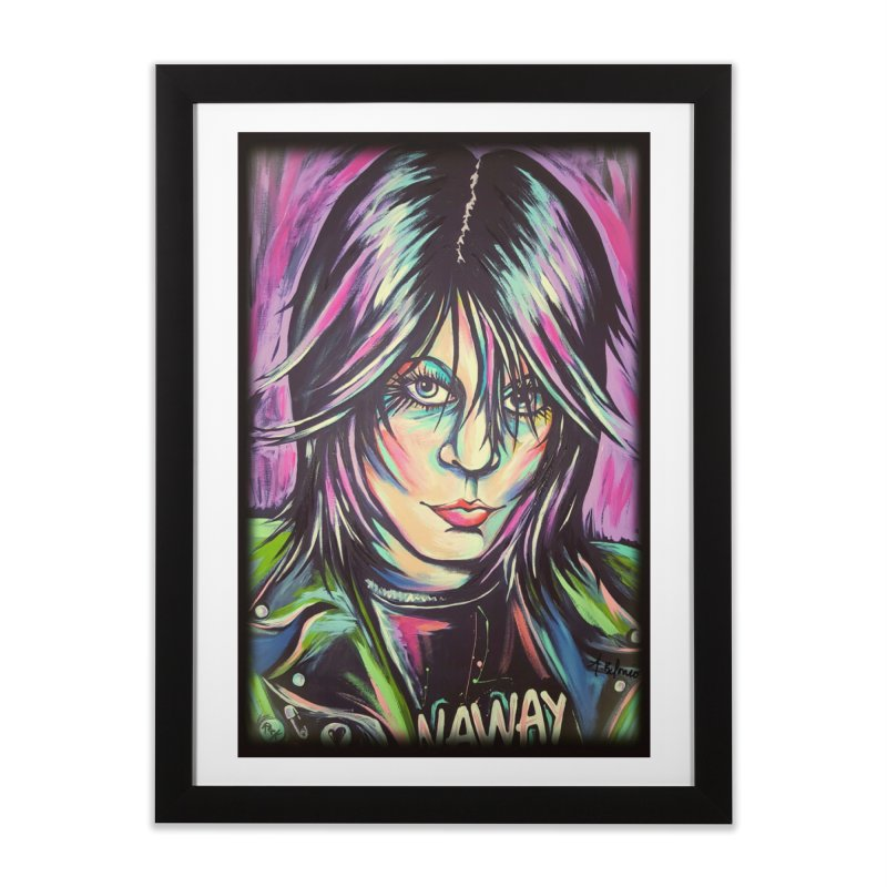 Joan Jett Home Framed Fine Art Print by amybelonio's Artist Shop