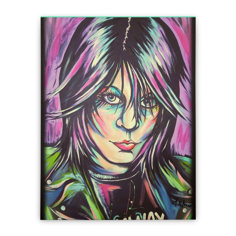Joan Jett Home Stretched Canvas by amybelonio's Artist Shop
