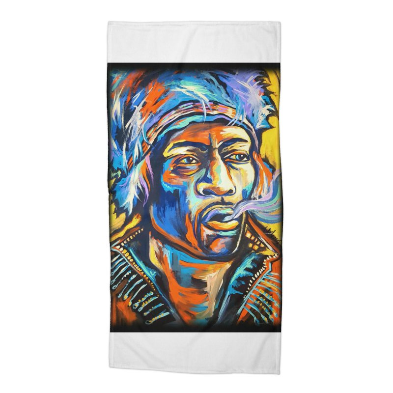 Jimi Hendrix Accessories Beach Towel by amybelonio's Artist Shop