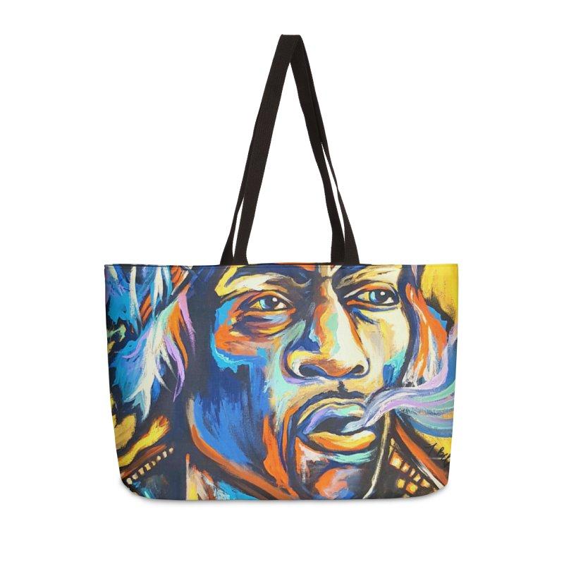 Jimi Hendrix Accessories Weekender Bag Bag by amybelonio's Artist Shop
