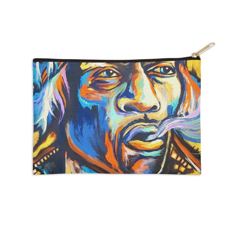 Jimi Hendrix Accessories Zip Pouch by amybelonio's Artist Shop