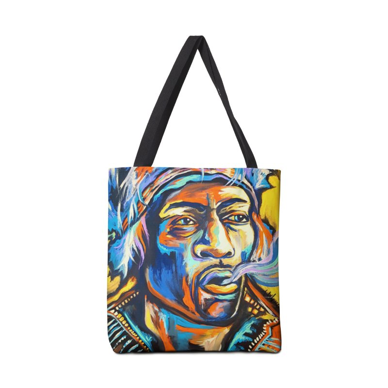 Jimi Hendrix Accessories Tote Bag Bag by amybelonio's Artist Shop