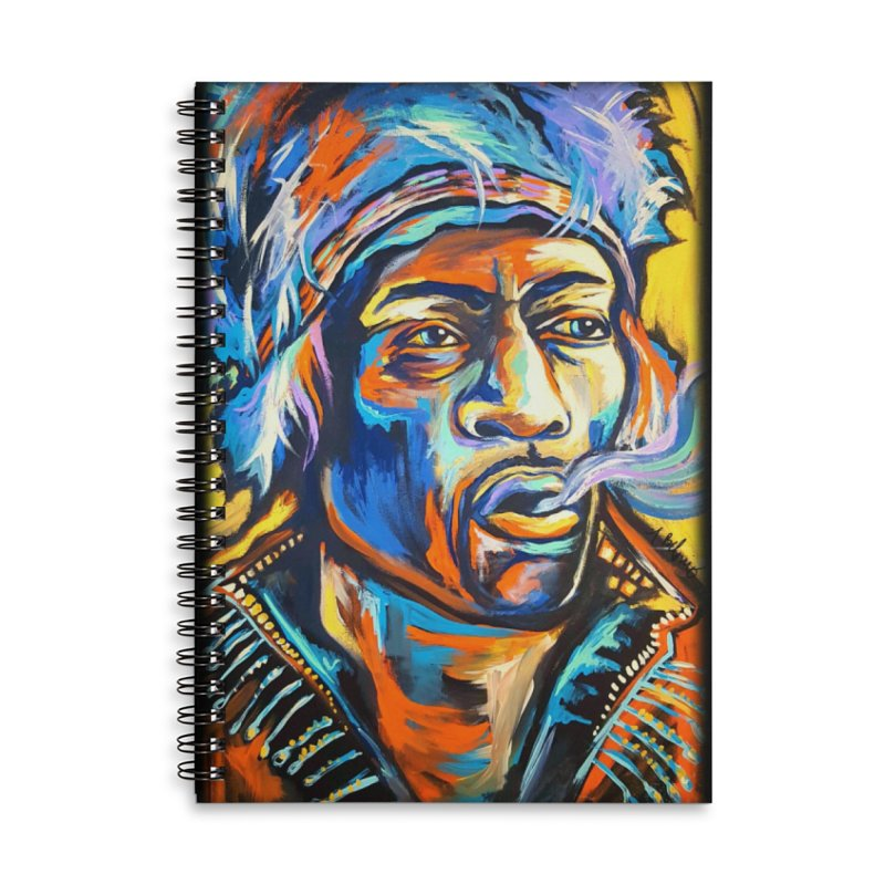 Jimi Hendrix Accessories Lined Spiral Notebook by amybelonio's Artist Shop