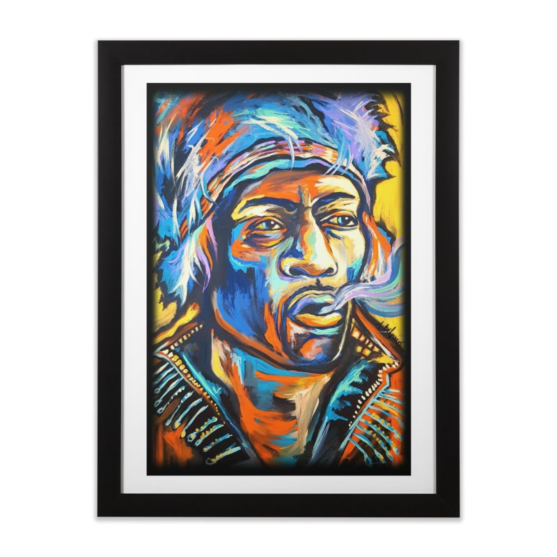 Jimi Hendrix Home Framed Fine Art Print by amybelonio's Artist Shop