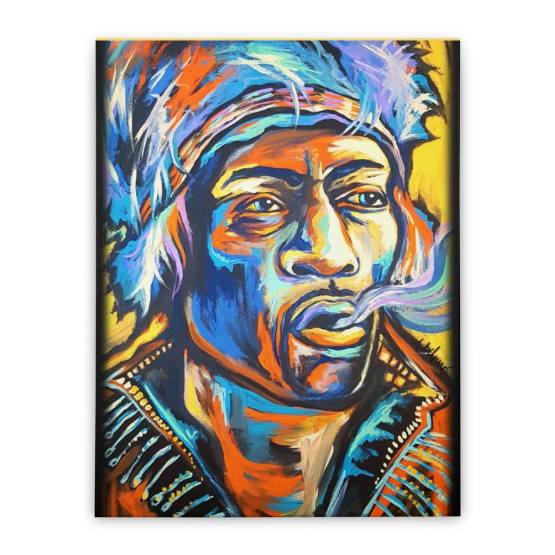 Jimi Hendrix Home Stretched Canvas by amybelonio's Artist Shop