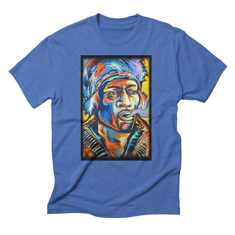 Jimi Hendrix Men's T-Shirt by amybelonio's Artist Shop