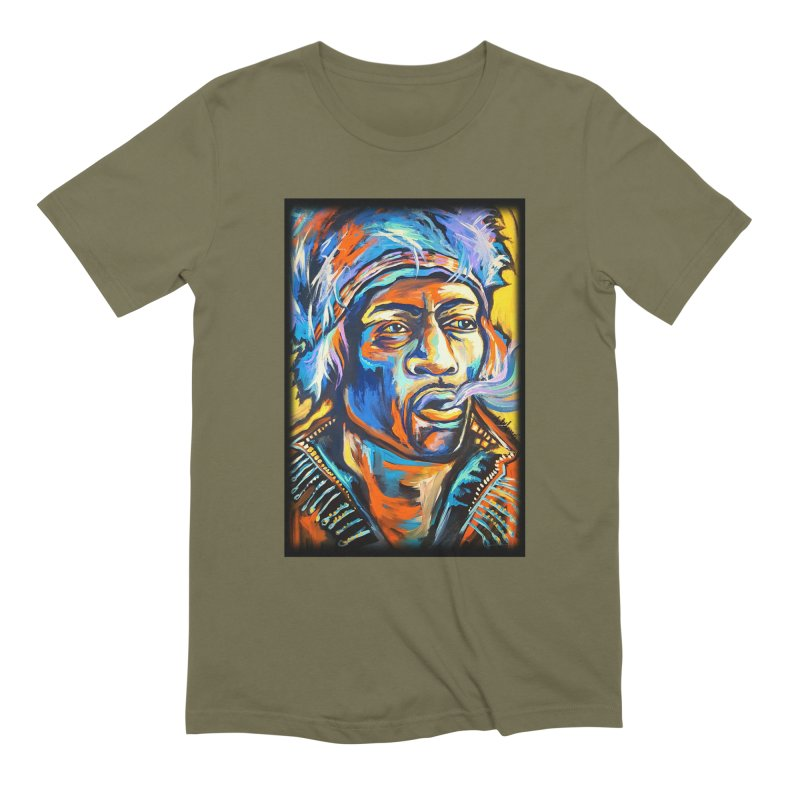 Jimi Hendrix Men's Extra Soft T-Shirt by amybelonio's Artist Shop