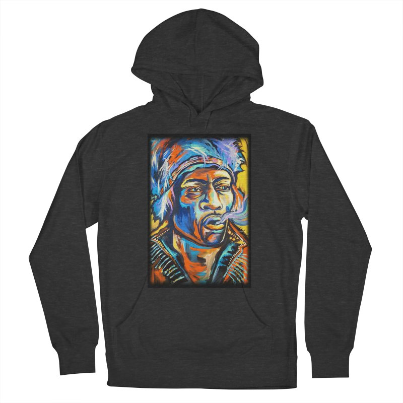 Jimi Hendrix Men's French Terry Pullover Hoody by amybelonio's Artist Shop