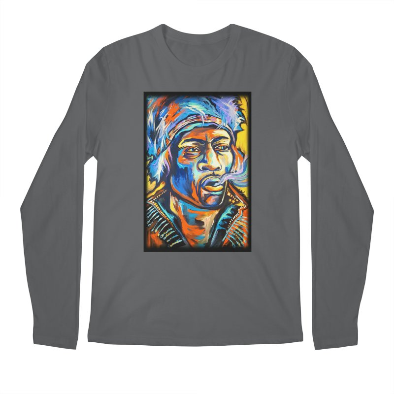 Jimi Hendrix Men's Longsleeve T-Shirt by amybelonio's Artist Shop