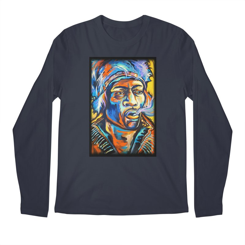 Jimi Hendrix Men's Regular Longsleeve T-Shirt by amybelonio's Artist Shop