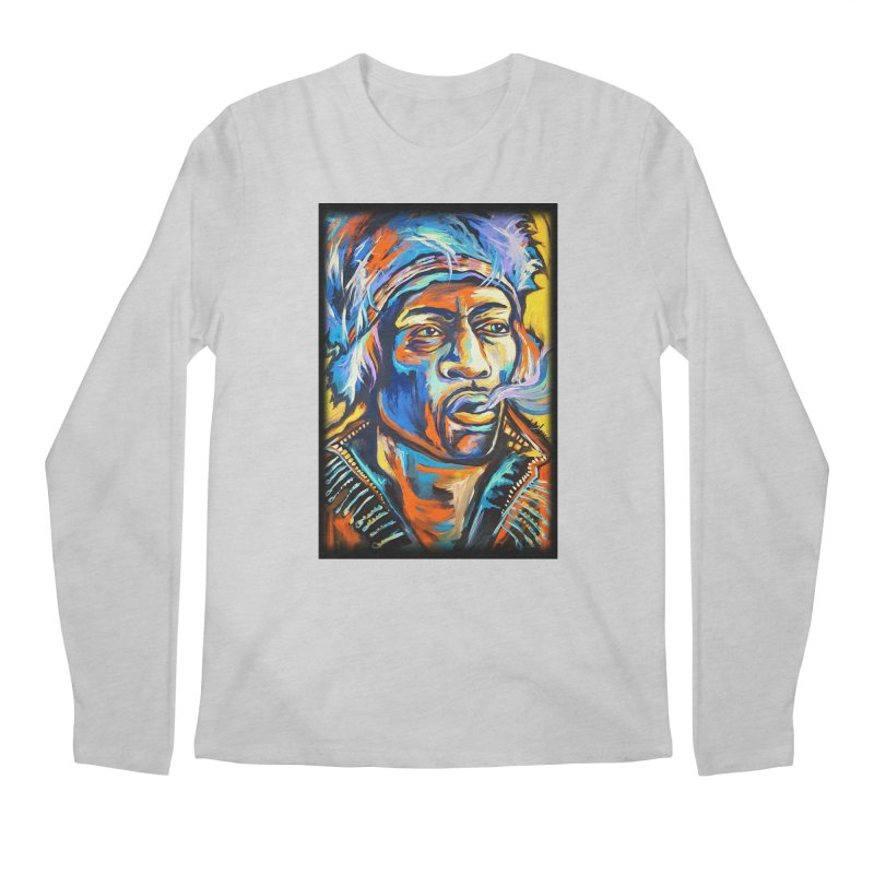 Jimi Hendrix Men's Regular Longsleeve T-Shirt by amybelonio's Artist Shop