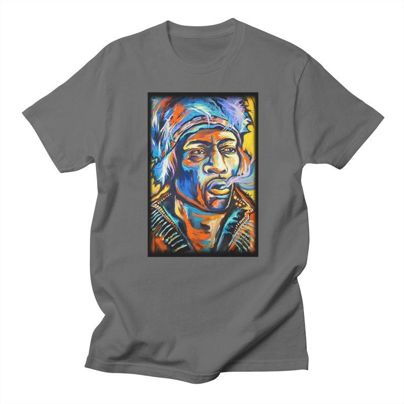 Jimi Hendrix Men's Regular T-Shirt by amybelonio's Artist Shop