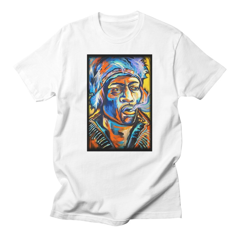 Jimi Hendrix Men's Regular T-Shirt by amybelonio's Artist Shop