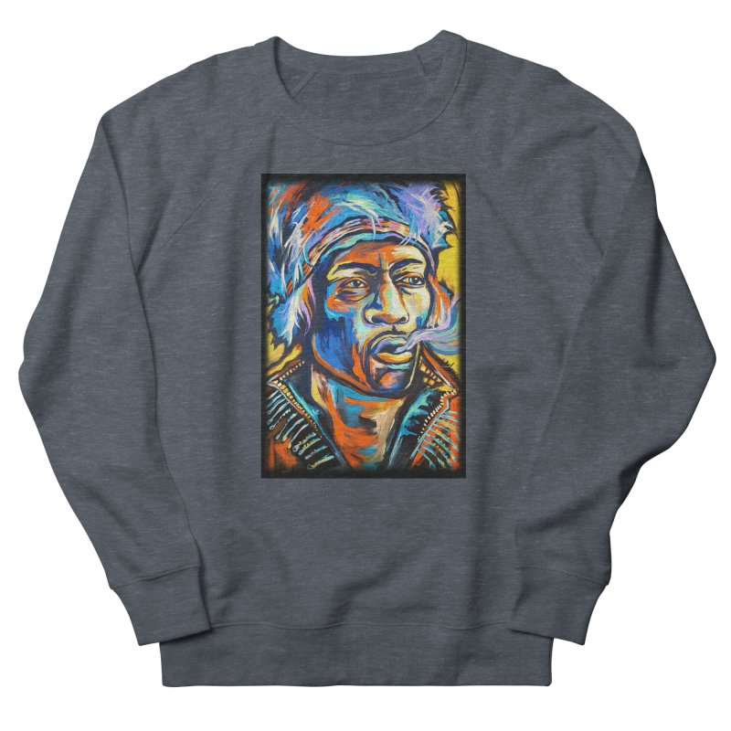 Jimi Hendrix Women's French Terry Sweatshirt by amybelonio's Artist Shop