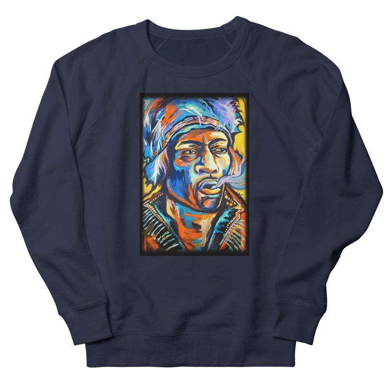 Jimi Hendrix Men's French Terry Sweatshirt by amybelonio's Artist Shop