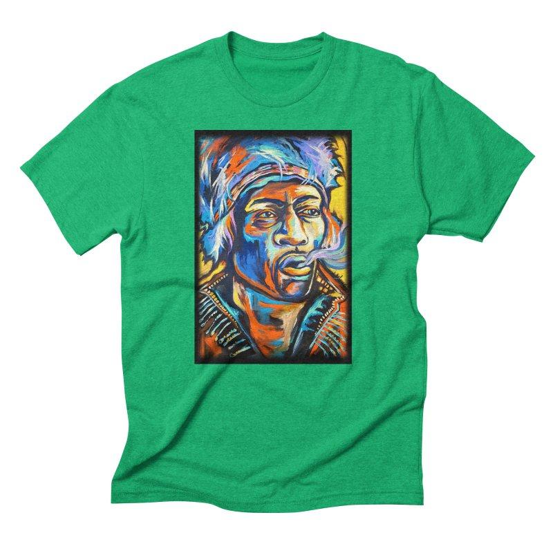 Jimi Hendrix Men's Triblend T-Shirt by amybelonio's Artist Shop
