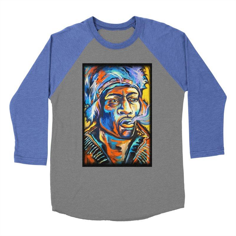 Jimi Hendrix Men's Baseball Triblend Longsleeve T-Shirt by amybelonio's Artist Shop