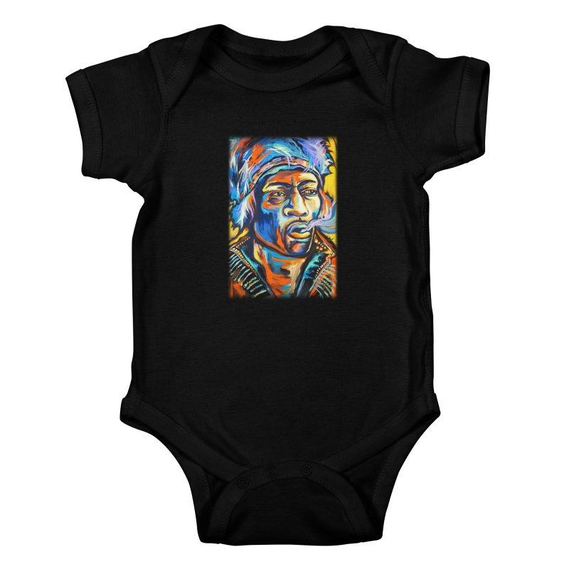 Jimi Hendrix Kids Baby Bodysuit by amybelonio's Artist Shop