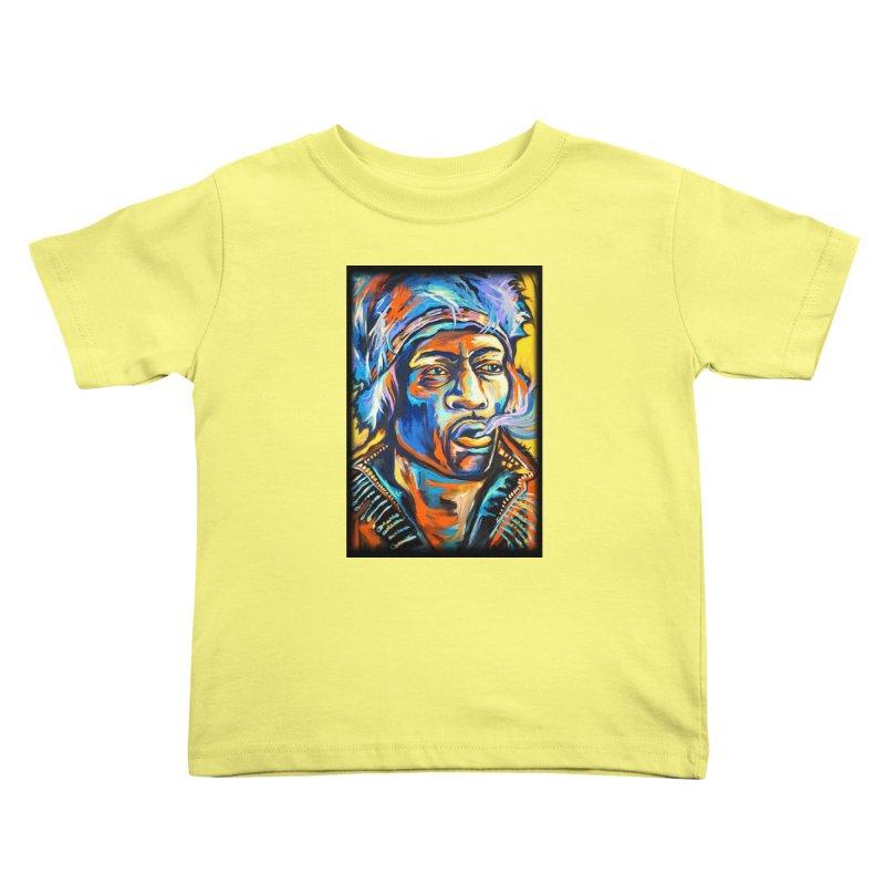 Jimi Hendrix Kids Toddler T-Shirt by amybelonio's Artist Shop