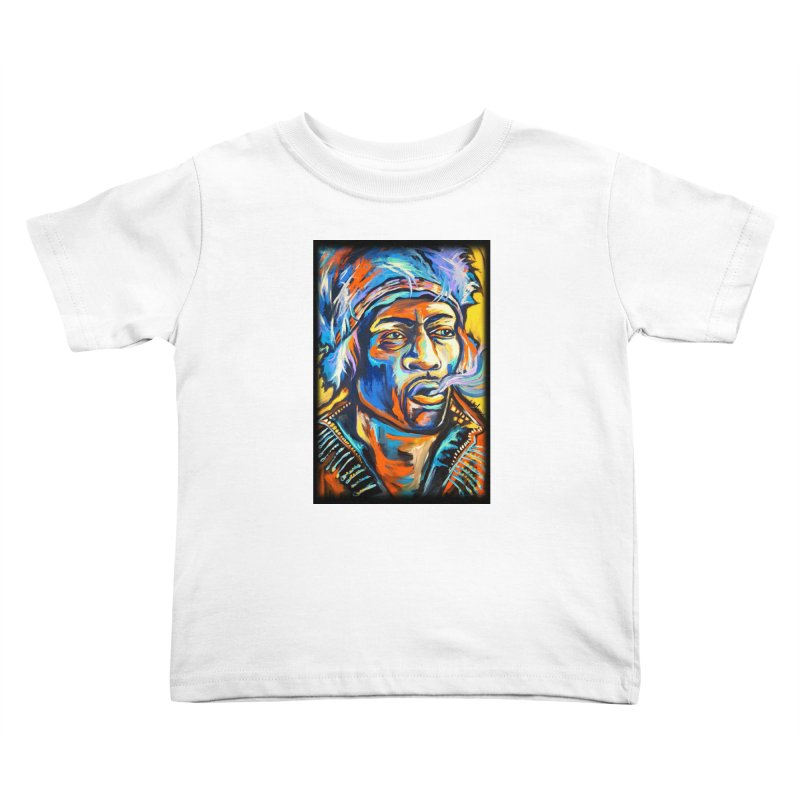 Jimi Hendrix Kids Toddler T-Shirt by amybelonio's Artist Shop