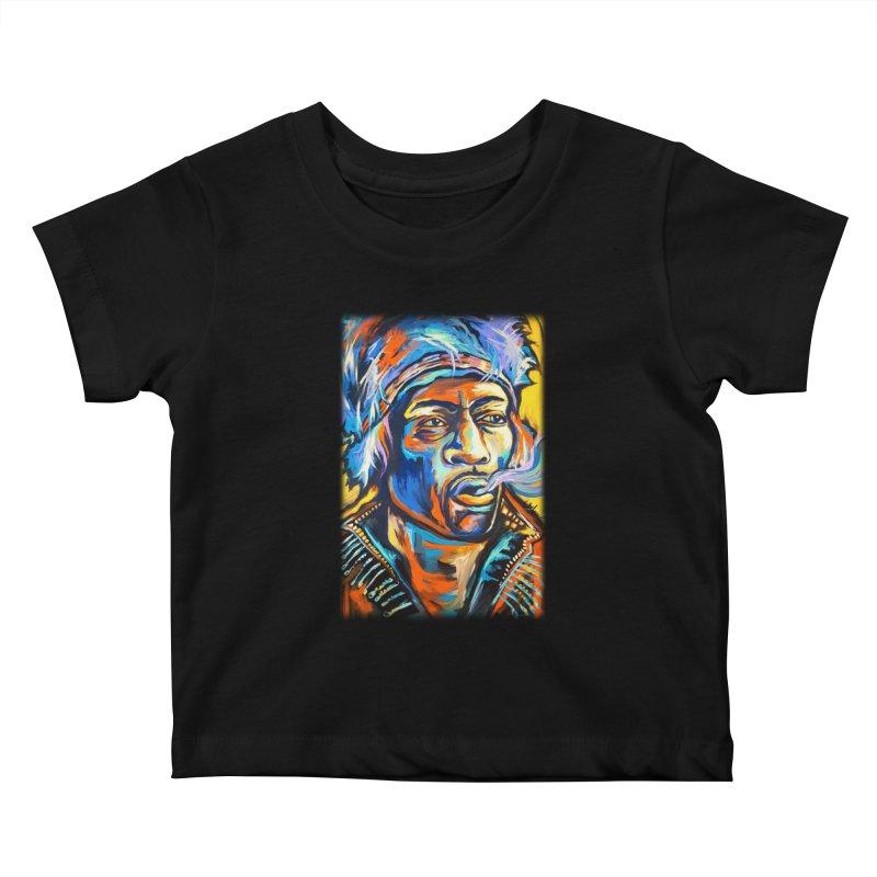 Jimi Hendrix Kids Baby T-Shirt by amybelonio's Artist Shop