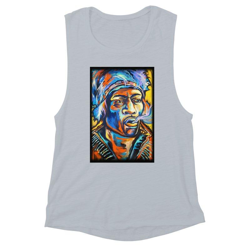 Jimi Hendrix Women's Muscle Tank by amybelonio's Artist Shop